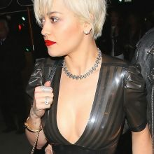 Rita Ora see through dress without bra pokies nipple visible 64x UHQ