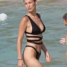 Bella Hadid sexy bikini candids on the beach in St. Barts 17x MixQ photos