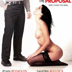 Sandra Bullock naked on The Proposal uncensored poster 6x HQ