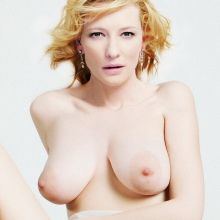Cate Blanchett naked spread legs nude photo shoot show hairy pussy UHQ