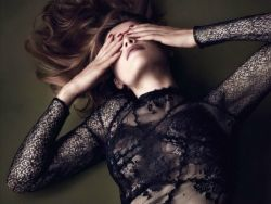 Laetitia Casta sexy see through Vanity Fair magazine photos 2013 December 6x HQ