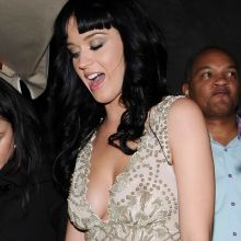 Katy Perry boobs with hard nipples in see through dress Night Out Leaving Bar with Friend 12x HQ