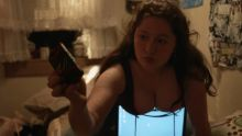 Shanola Hampton, Isidora Goreshter, Emma Kenney - Shameless S07 E04 1080p cleavage wet top braless lingerie boobs pop out scenes