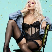 Becca Hiller see through lingerie for Agent Provocateur Holiday 2016 Lookbook 8x HQ photos