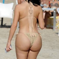 Demi Rose show big boobs and ass in tiny bikini on the photoshoot in Ibiza 13x HQ photos