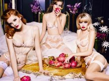 Solveig Mork Hansen, Alexina Graham and Frida Aasen Agent Provocateur 2015 Spring-Summer 24x HQ