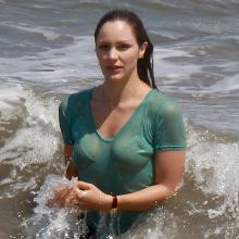 Katharine McPhee wet top on the set of Scorpion in LA 14x HQ