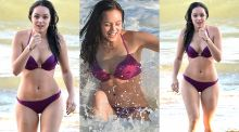 Hayley Orrantia sexy bikini at the beach in Los Angeles 13x UHQ