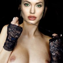 Angelina Jolie topless show big boobs UHQ