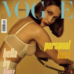 Bella Hadid sexy lingerie nip slip for Vogue Italia June 2017 22x MixQ photos