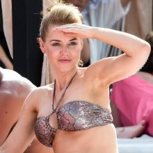 Stephanie Waring wearing sexy bikini in Marbella Spain 10x HQ