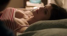 Alexandra Daddario - Baked in Brooklyn 1080p topless boobs bouncing scenes