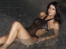 Micaela Schafer see through lingerie in a steam pool 3x UHQ