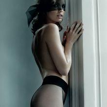 Caroline Winberg topless see through lingerie Mario Testino photoshoot 9x HQ