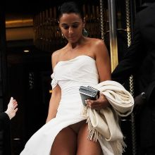 Emmanuelle Chriqui upskirt on Entourage premiere in London 8x HQ