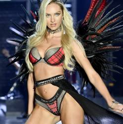 Candice Swanepoel, Josephine Skriver sexy see through lingerie cameltoe 2017 Victoria's Secret Fashion Show 19x MixQ photos