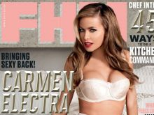 Carmen Electra hot FHM Magazine 2014 April 5x UHQ