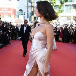 Bella Hadid upskirt at Opening Ceremony of 70th Cannes Film Festival 51x HQ photos