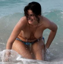 Shermine Shahrivar topless on the beach candids 30x MixQ photos